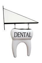 tooth or molar shape Dental Clinic sign