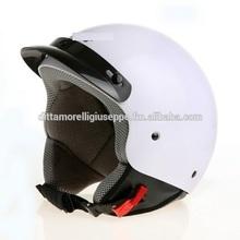 helmet Demi Jet three botton vespa scooter motorcycle ECE certification SHINY WHITE