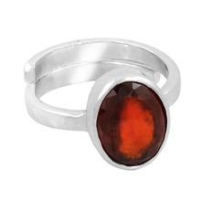 Havana Buy Online 5.25 Ratti + Garnet Gemstone Adjustable Silver Ring