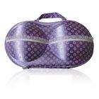 Bra Bag, Material -EVA, Color-Purple with white Flower_P1B23, Dimen-33x17.5x8 cm