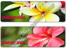 Personalized 6 inches Custom Lenticular 3D Souvenir Ruler Tropical Hawaiian Flower Hibiscus Pluria