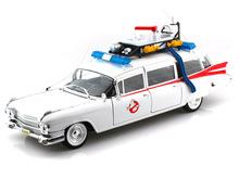Hot Wheels 1/18 Scale 1959 Cadillac Ambulance ECTO 1 Ghostbusters 1 Movie Diecast Car Model BCJ75