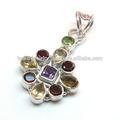 sitrin ve granat taş kolye takı tasarımı gümüş taş takı