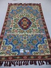 woolen chain-stitch rugs in Traditional Kashmir designs