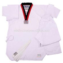 Con cuello en V de Taekwondo promocional uniforme