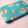 Zipper Pouch, Lovely Bird, Japanese Fabric, Cotton, Handmade, Thailand, Small Size for Cosmetic, Pencil, Phone, Card, and Coin