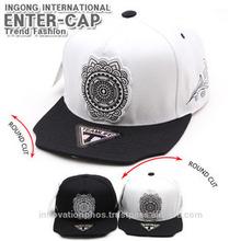 Round cut baseball snapback cap