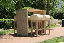 MONA bar set set - recycled pine wood
