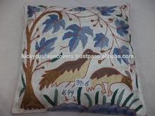 Hand made bird design cushion covers from Kashmir.