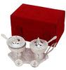 Brass Silver Plated Mouth Freshner Trolly Bowl for Christmas & Diwali Gift