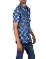 Wholesale Mens Dress Shirts, Wholesale Mens Indigo Print Shirt, Latest Design Shirts