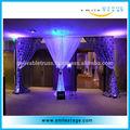 Restaurante chinês de decoração para casamento com tubos ajustáveis e opcional cortinas
