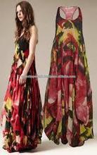 GI_7902 latest design fashion long print women maxi evening dress slim party dress