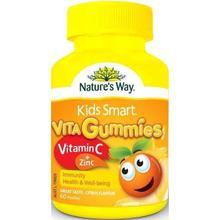 Nature's Way Kids Smart Vita Gummies Vitamin C & Zinc 60 Pastilles Gummies (Immunity Health & Well Being) Citrus Flavour