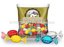 Sonhare Center Filled Hard Candy, milk, chocolate, peanut, coconut, hazelnut