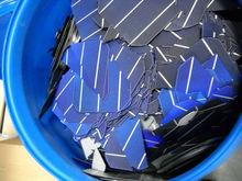 broken Mono solar cells