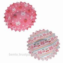 "Bento Cup ""Rabbit 'Circle"" (food cup)/paper cupcake,paper bento box, bento box, kids lunch box, bento accessories, made in Japan"