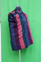 Acrylic multicolor strip shawl