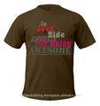 100% algodão slogan impresso t- shirt