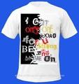 Tela de seda slogan impresso t- shirt