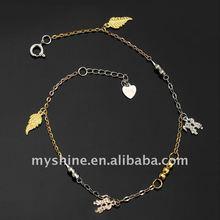 Myshine 2011 sterling silver925 charm bracelet chain