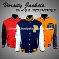 Custom jaquetas varsity com patch chenille e logo/jaquetas de baseball