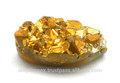 preço de fábrica loose gemstone druzy dourada forma marquise flat back gemstone