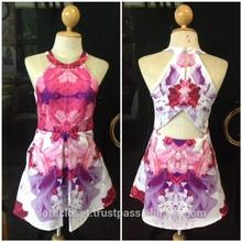 flora prints mini dress