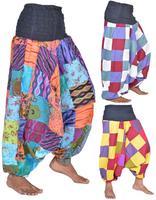 Cotton Patchwork Harem Pants TR-34