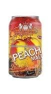 Peach Malt tin can , non alcoholic bottle drink , malt energy drink