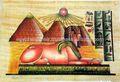 Papiro egiziano dipinti, vera carta di papiro