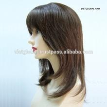 Cheap!! natural hair line hair thin skin silk top full lace human hair wig for black women