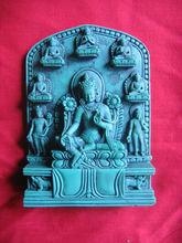 Resin Buddha High Quality Carving GreenTara with Pancha Buddha Nepal