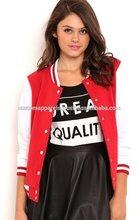 2014 Spring & Autumn College Stylish Fashion Embroidered 100% Cotton Varsity Jacket