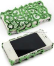 Window design Chrome Hard case with diamond for iPhone 6, iPhone 5 and iPhone 4 and for Samsung S5 and Note 3