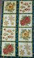 Tessuto di cotone, natale, pannello sul verde, vacanza fiorire 7, Robert Kaufman, trasporto veloce