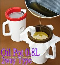 olla de aceite de cerámica como herramientas de cocina de interiores y elemento útil