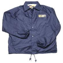 Nylon Windbreaker Coaches Jacket with Security Logo WB02