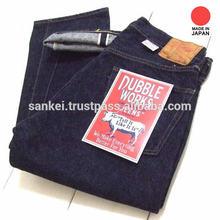 Slim fit DUBBLEWORKS denim pants for men clothes wholesale company