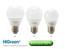 HiGreen LED Light Bulb 3W/5W/7W