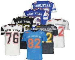 Mens T Shirt American Baseball Football NY USA Soulstar Varsity Mesh Top Jersey