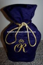 Linen Wine Bag Velvet Wine Bottle Bag