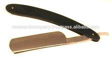 Gold Finish Straight Razor Blade /Matt Finish shaving razor/high quality razors