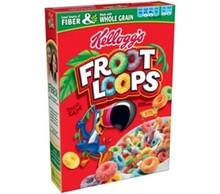 Kellogg's Froot Loops Breakfast Cereal Pack of 12 (17 oz)