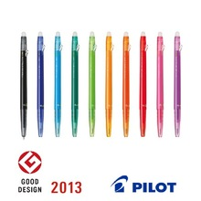 Various types of colorful erasable pen brands made in japan