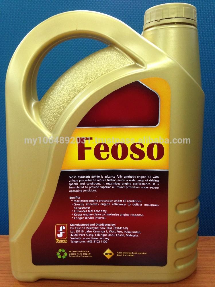 Feoso Oil Gold Fully Synthetic 4l Api Sm Sae 5w 40 Motor