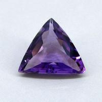 Brazilian Amethyst Trillion Shape Single piece gem