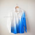 Tsumugilabo Japanese traditional handcraft design men's shirt clothes made in japan asymmetry gradation design pattern