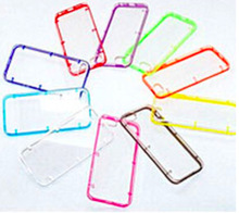 Thin TPU+PC transparent case with Colorful frame for iPhone 6, iPhone 5 and iPhone 4 and for Samsung S5 and Note 3