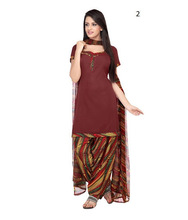 Daily Wear Maroon Color Printed Punjabi Suits